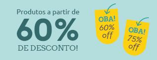 Produtos a partir de 60% de desconto